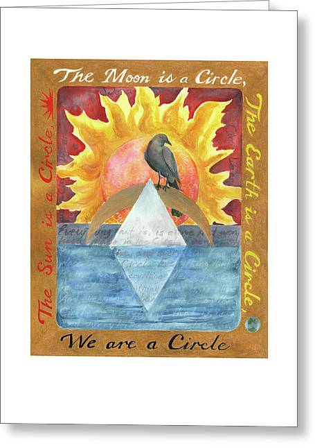 We Are A Circle Greeting Card