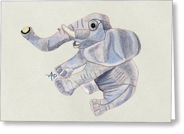 Cuddly Elephant IIi Greeting Card by Angeles M Pomata