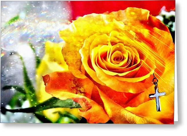 God Love Peace Greeting Card