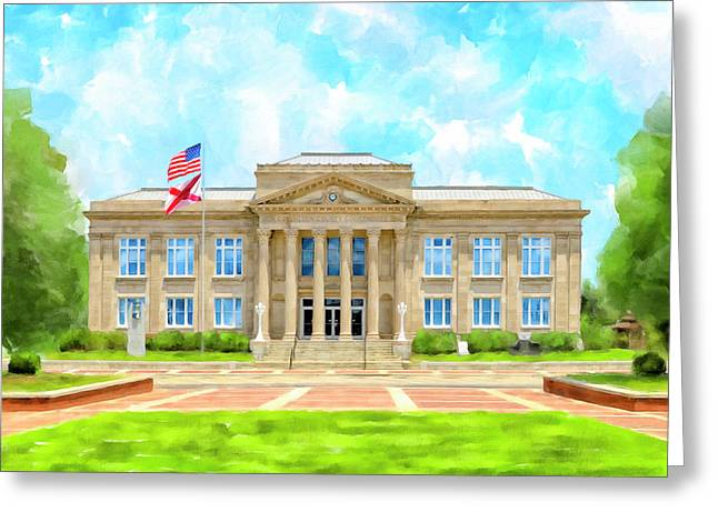 Covington County Courthouse - Andalusia Alabama Greeting Card by Mark Tisdale
