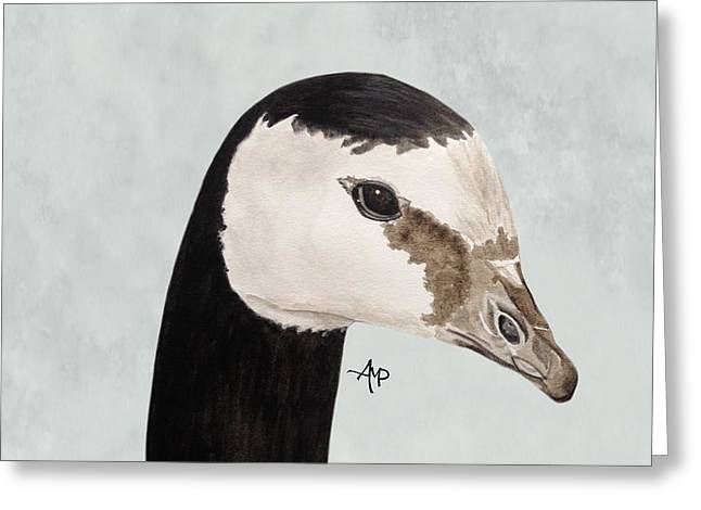 Barnacle Goose Portrait Greeting Card