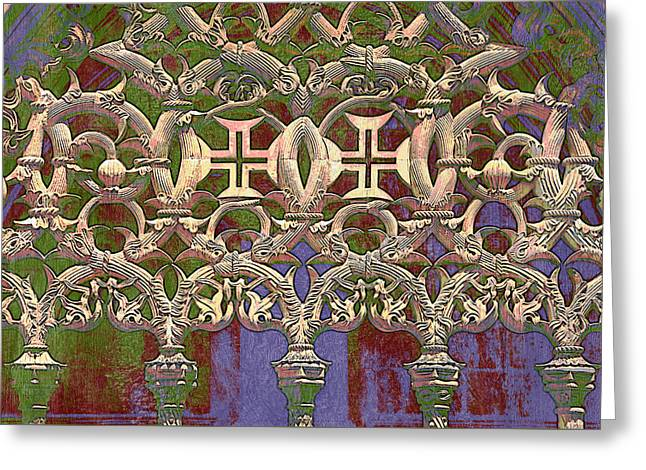 Batalha Gothic Detail Greeting Card by Mikehoward Photography