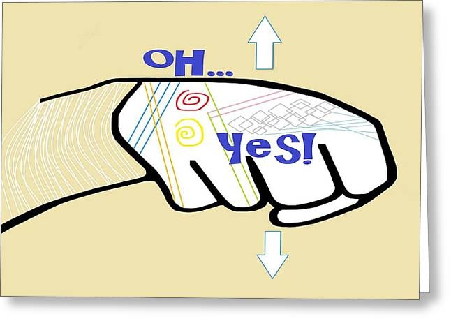 Asl Oh Yes Greeting Card by Eloise Schneider