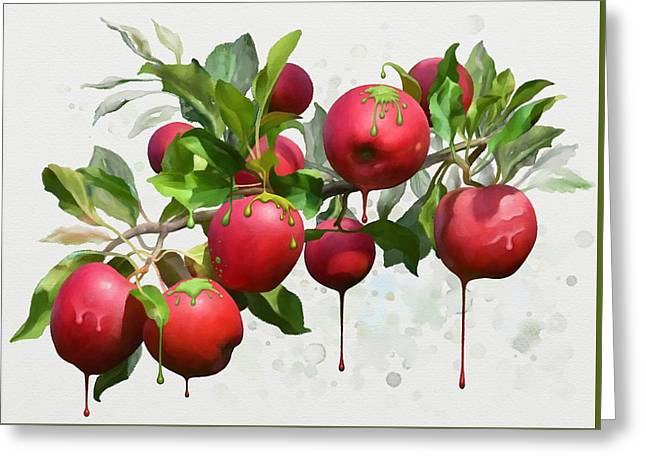 Melting Apples Greeting Card