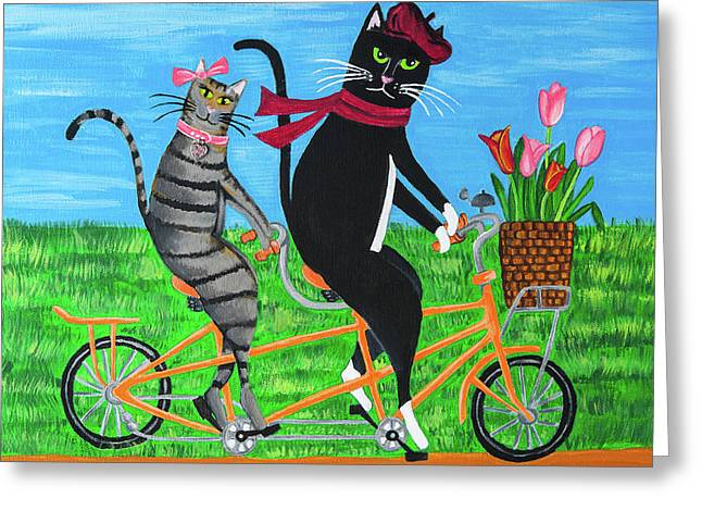 Kitty Cat Outing Greeting Card