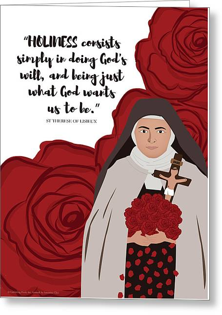 St Therese Of Lisieux On Holiness Greeting Card