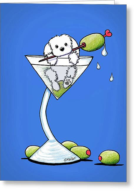 Maltese Martini Greeting Card