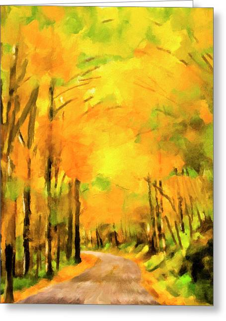 Golden Miles - Ode To Appalachia Greeting Card by Mark Tisdale