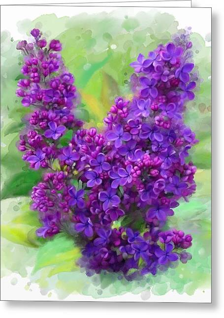 Watercolor Lilac Greeting Card