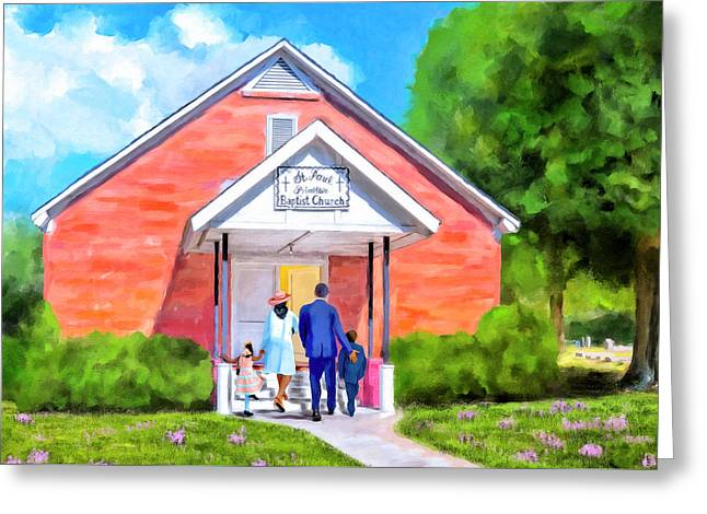 Greeting Card featuring the painting Sunday Morning In South Georgia by Mark Tisdale