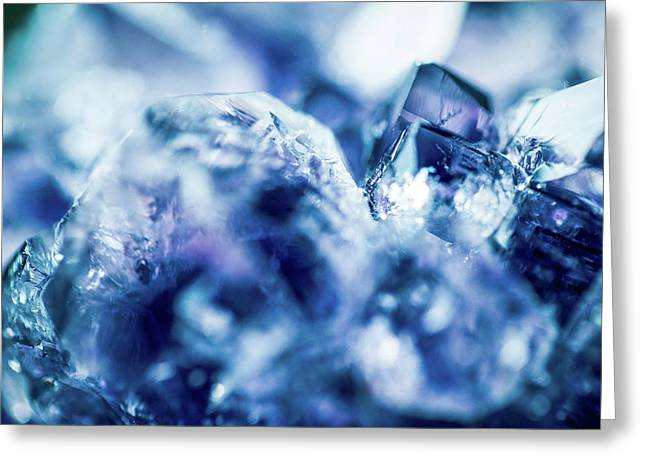 Greeting Card featuring the photograph Amethyst Blue by Sharon Mau
