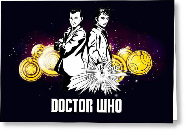 Doctor Who Greeting Card by Vika Chan