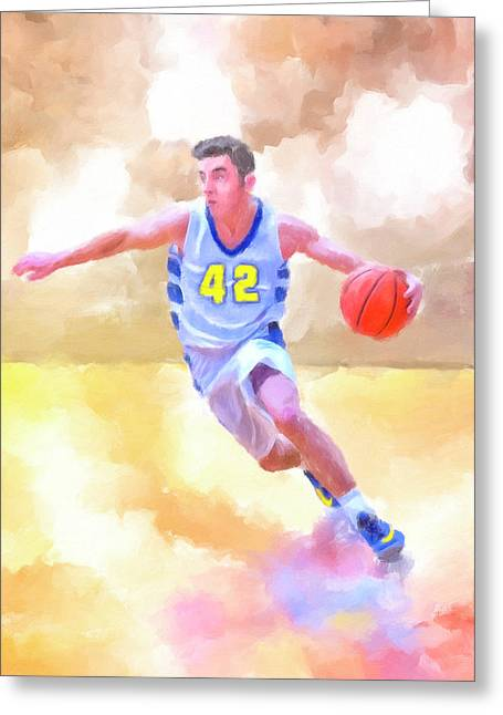 The Art Of Basketball Greeting Card by Mark Tisdale