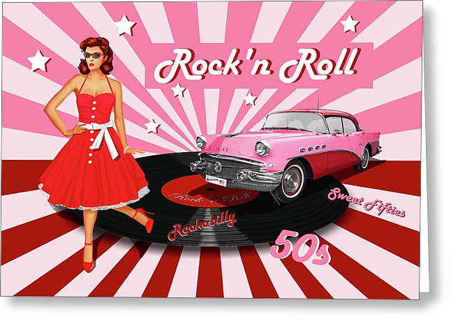 Rock'n Roll The Sweet Fifties Greeting Card
