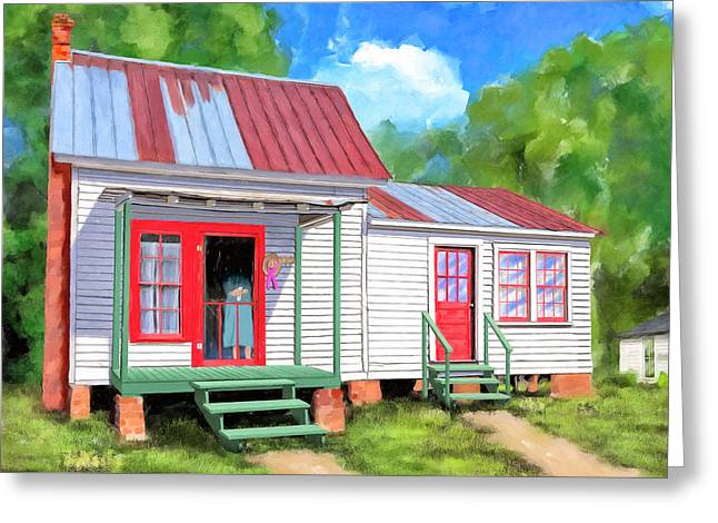 Greeting Card featuring the painting Back To Grandmother's Cottage by Mark Tisdale