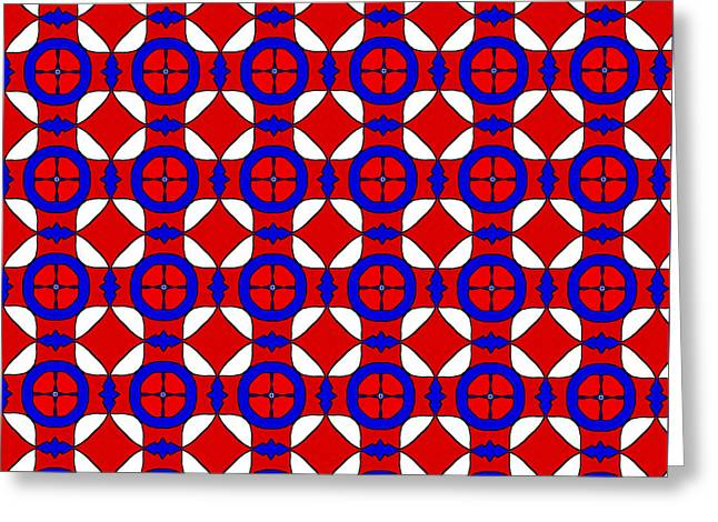 Red White And Blue Greeting Card by Becky Herrera