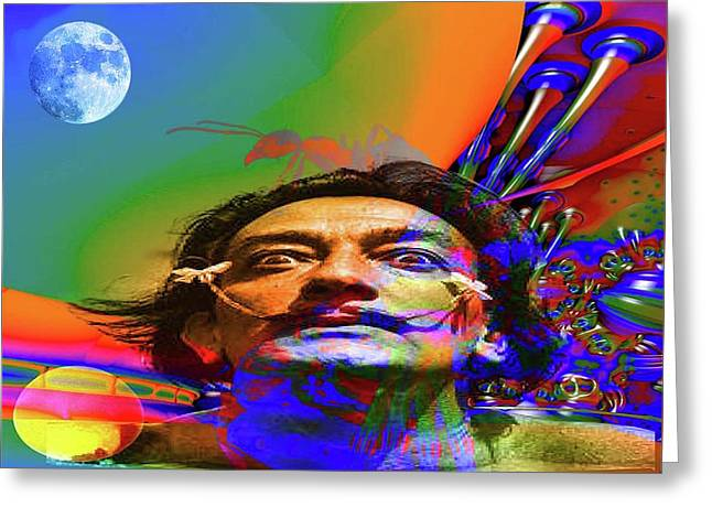 Dream Of Salvador Dali Greeting Card by Matthew Lacey
