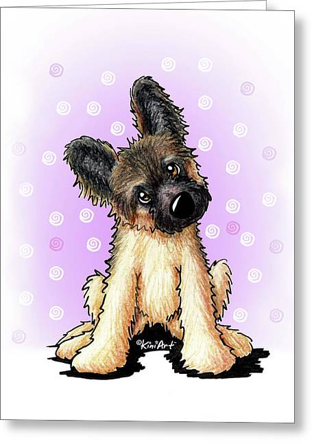Kiniart Shepherd Puppy Greeting Card