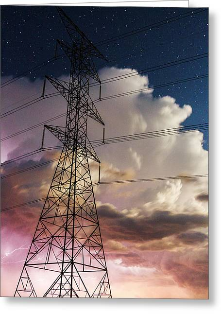 Storm Power Greeting Card