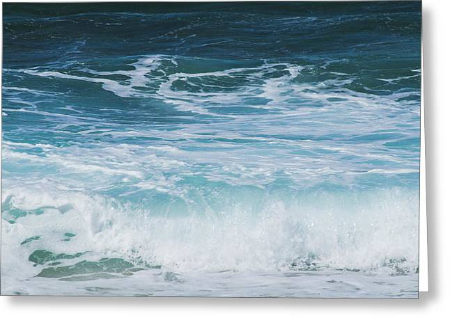 Ocean Waves From The Depths Of The Stars Greeting Card by Sharon Mau