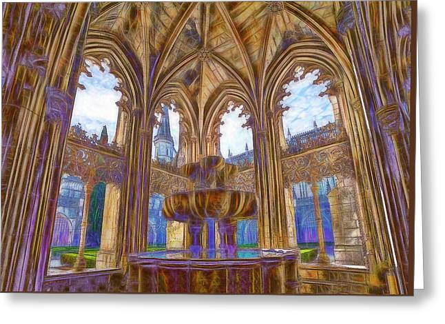 Batalha Gothic Greeting Card by Mikehoward Photography