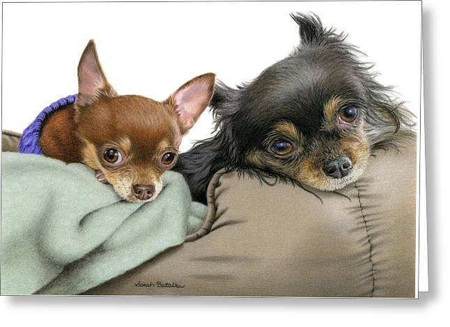 Stella And Nettie Greeting Card