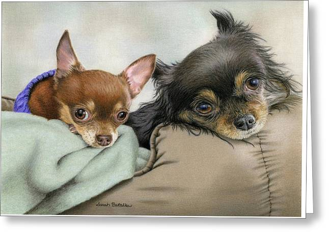 Two Chi's In A Pod Greeting Card