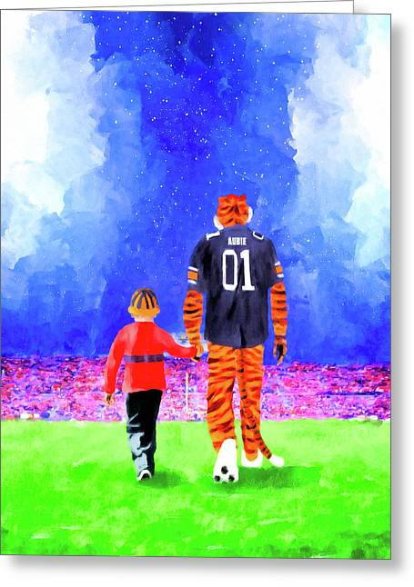 Dreaming Under The Lights In Auburn Greeting Card