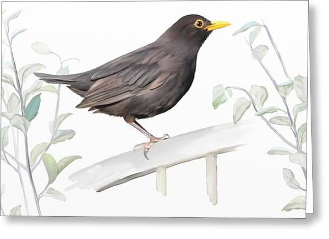 Ms. Blackbird Is Brown Greeting Card