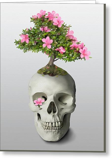 Bonsai Skull Greeting Card