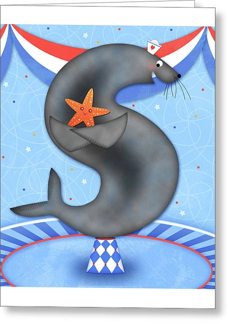 S Is For Seal And Starfish Greeting Card