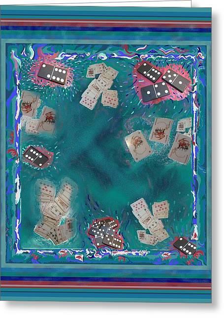 Surreal Lake Art And Poem Greeting Card