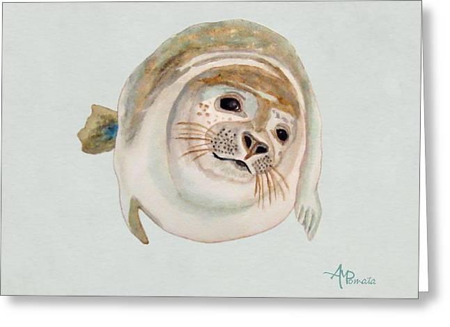 Sea Lion Watercolor Greeting Card
