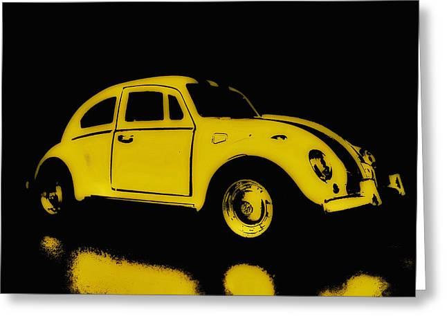 Yellow Bug Greeting Card