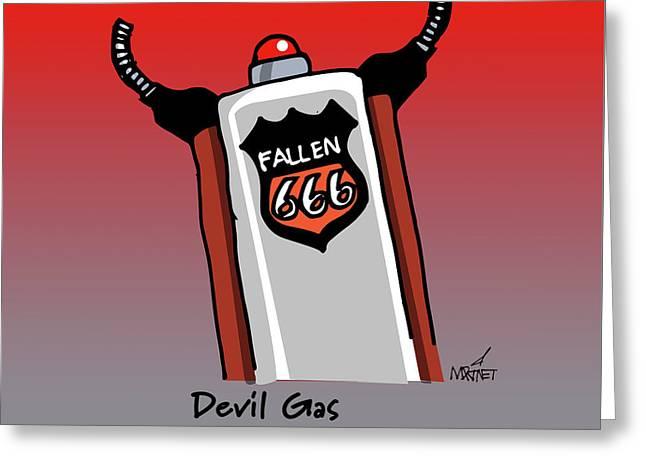 Devil Gas Greeting Card