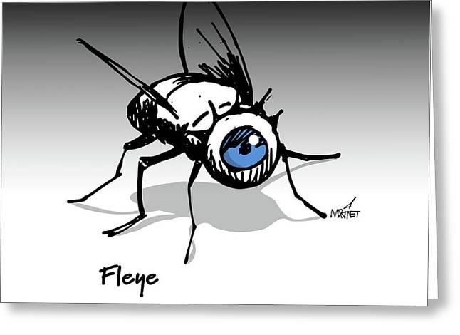 Fleye Greeting Card