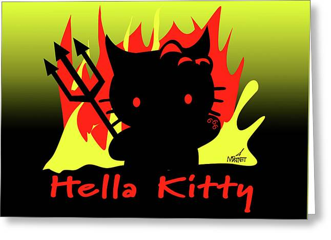 Hella Kitty Greeting Card