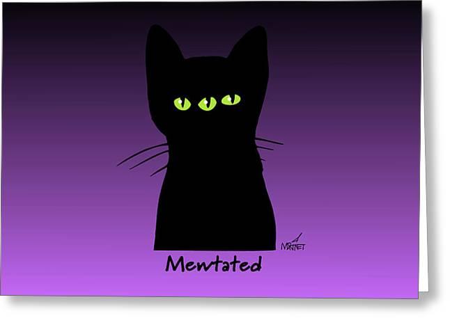 Mewtated Greeting Card