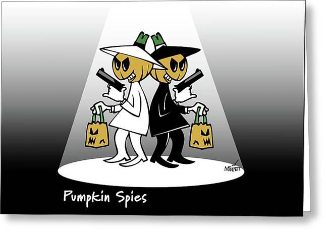 Pumpkin Spies Greeting Card