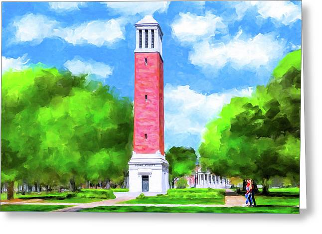 Denny Chimes - University Of Alabama Greeting Card