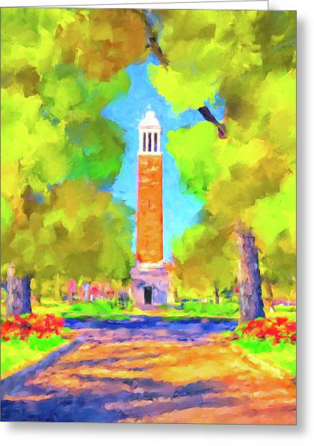 Denny Chimes On The Quad Greeting Card
