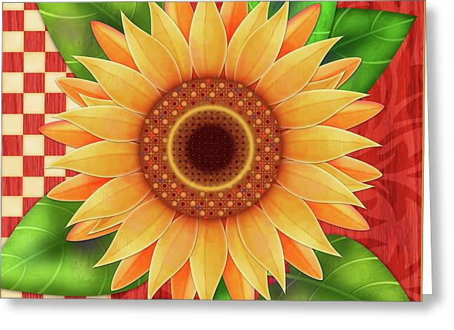 Country Sunflower Greeting Card