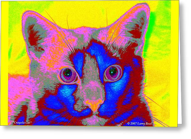 Crayola Cat Greeting Card