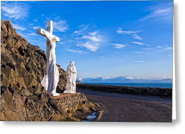 I Met Jesus On The Slea Head Road In Ireland Greeting Card by Mark E Tisdale