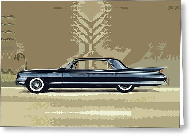 1961 Cadillac Fleetwood Sixty-special Greeting Card
