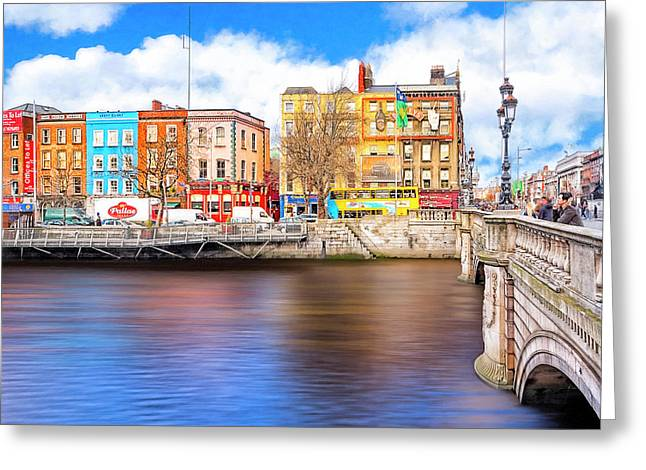 Bachelor's Walk - Dublin Quays Greeting Card