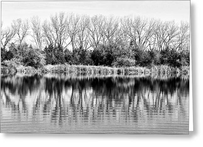 Greeting Card featuring the photograph Rippled Reflection by Bill Kesler