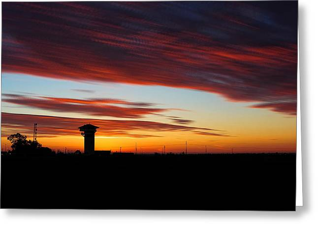 Sunrise Over Golden Spike Tower Greeting Card