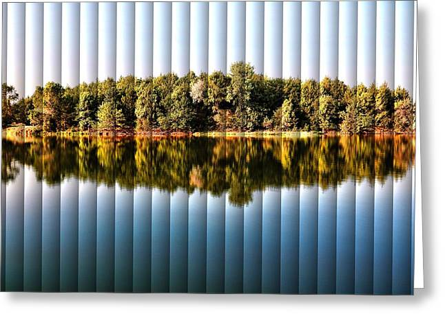 Greeting Card featuring the photograph When Nature Reflects - The Slat Collection by Bill Kesler