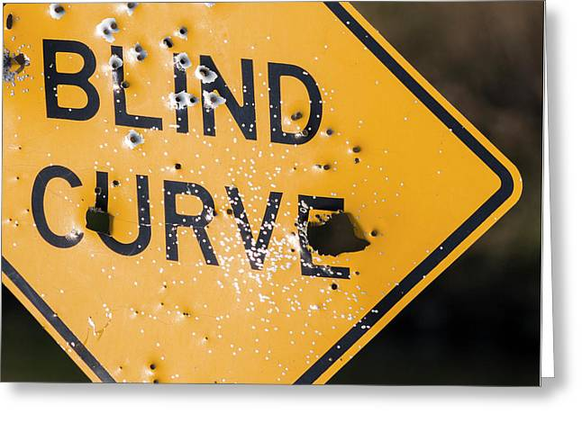 Greeting Card featuring the photograph Blind Curve by Bill Kesler